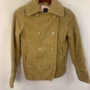 GAP Pea Coat Double Breasted Corduroy Jacket S